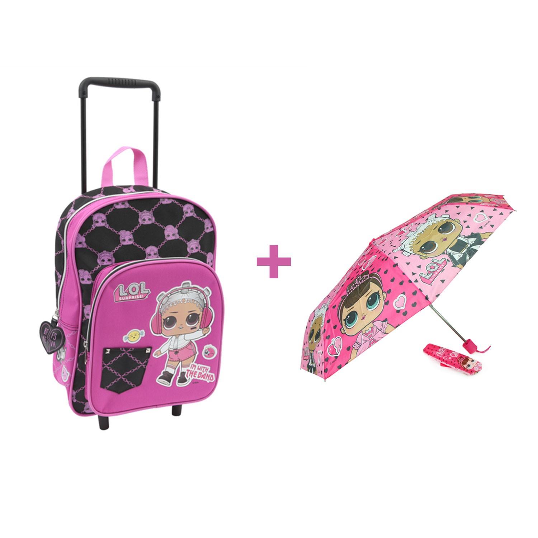 9164f5ad0c Kit mini trolley LOL scuola materna Giochi Preziosi + Ombrello LOL 2019