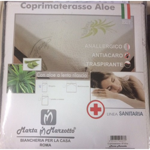 COPRIMATERASSO MARTA MARZOTTO ART.ALOE 1P BIANCO SINGOLO