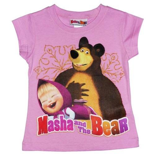 Maglietta disney masha e orso rosa 5 anni / 110 cm