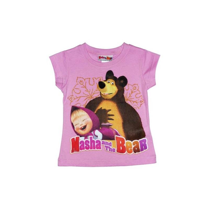 Maglietta disney masha e orso rosa 6 anni / 116 cm