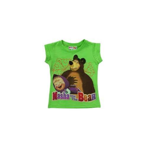 Maglietta disney masha e orso verde 4 anni / 104 cm