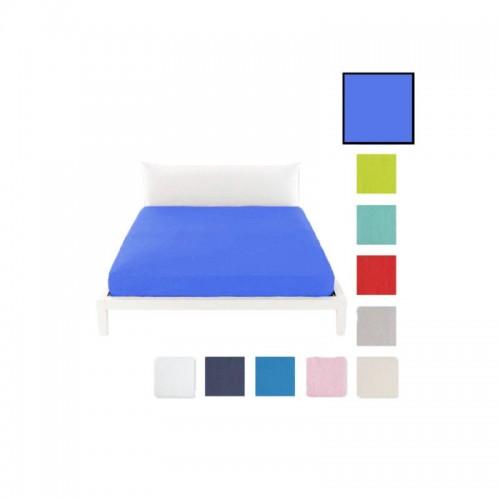 Lenzuolo sotto c/angoli marta marzotto tinta unita 1p 90x200cm azzurro singolo