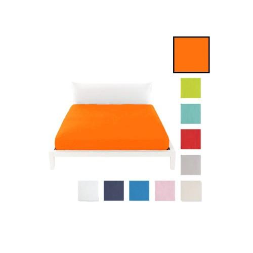 Lenzuolo sotto c/angoli marta marzotto tinta unita 1p 90x200cm arancione singolo