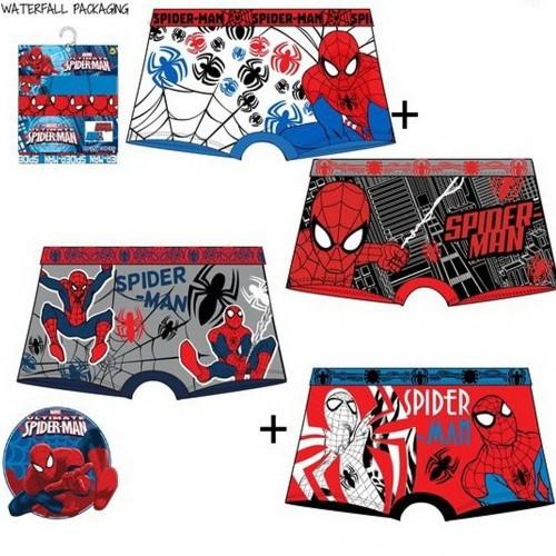 Set 2 boxer per bambino marvel spiderman 6-8 anni fantasia mix